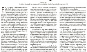 Artigo no Correio Braziliense destaca projeto dos fundos patrimoniais