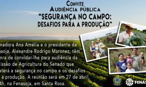 Comissão de Agricultura do Senado promove audiência na Fenasoja, em Santa Rosa