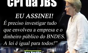 Senadora assina pedido de CPI para investigar irregularidades envolvendo a JBS