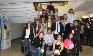 Estudantes de Direito e Economia da Universidade de Caxias do Sul visitam o Congresso