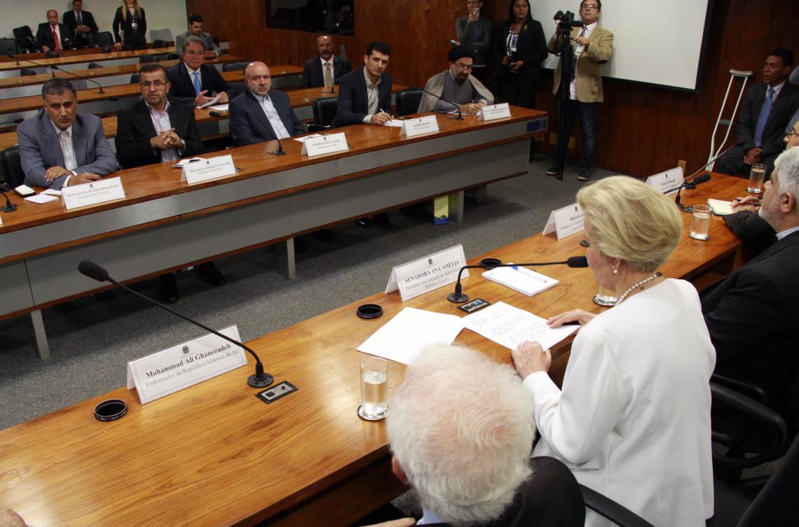 Delegação de parlamentares iranianos é recebida na Comissão de Agricultura e Reforma Agrária do Senado