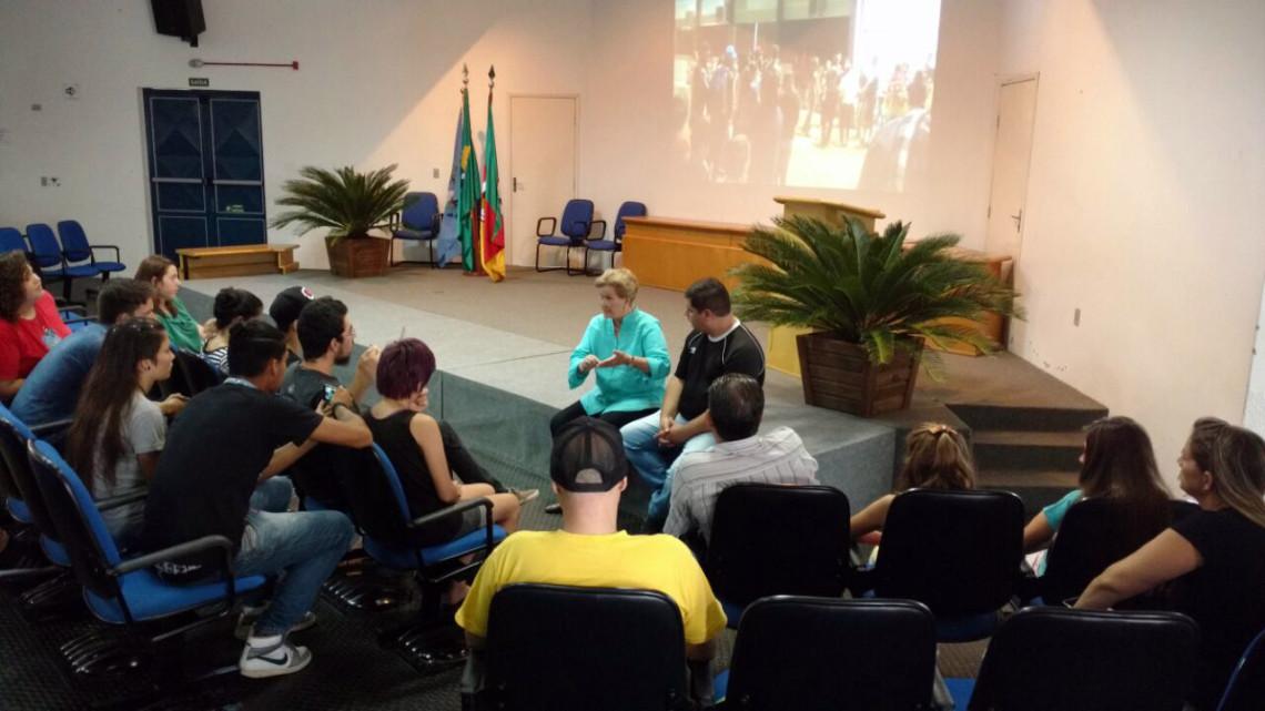 Senadora visita o Instituto Federal Farroupilha em São Vicente do Sul