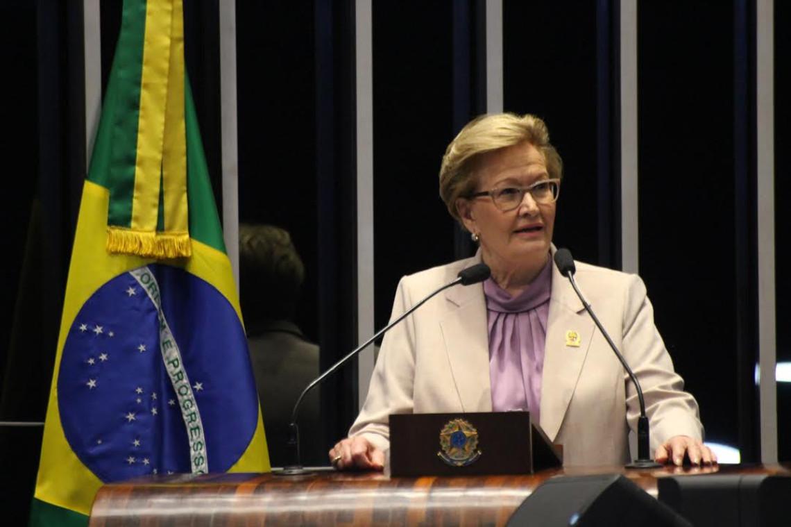 Ana Amélia alerta sobre os riscos da 'obesidade' do Estado