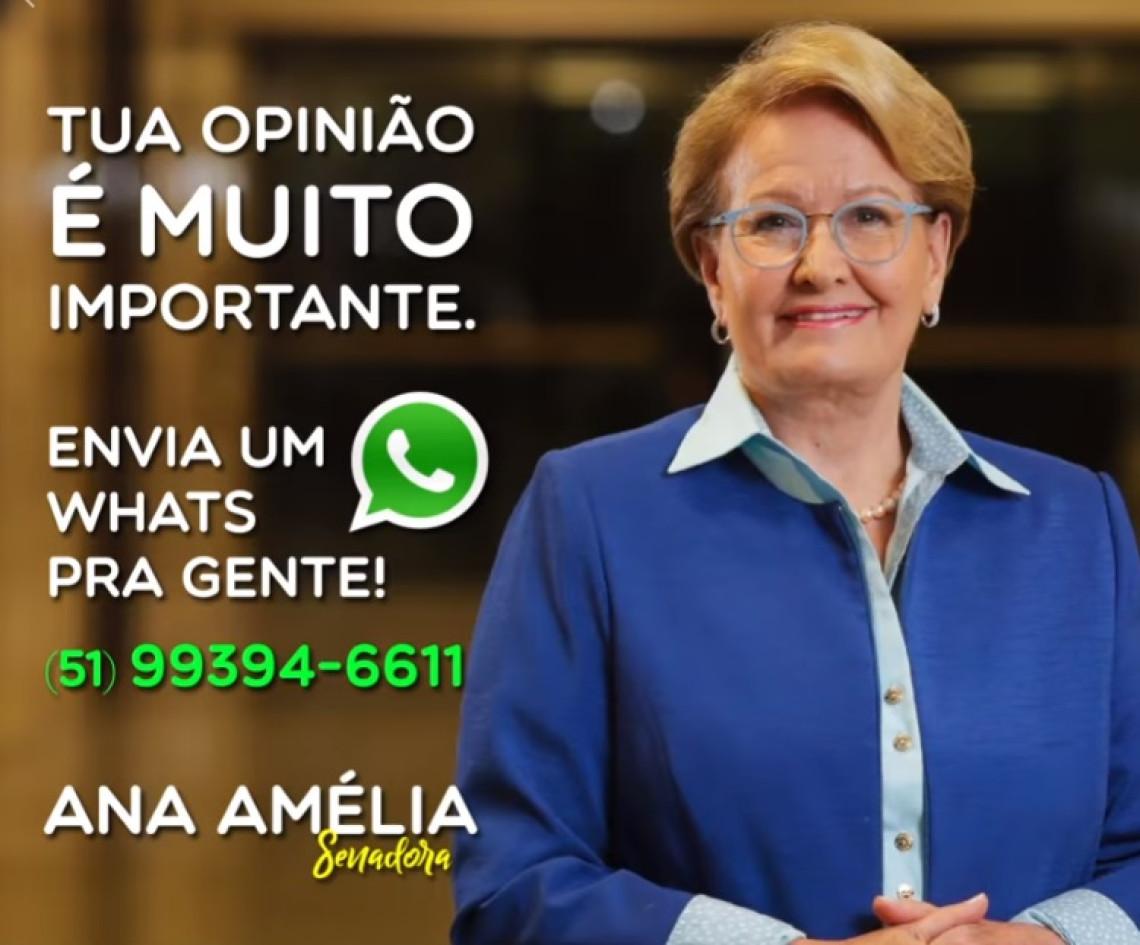 Interaja com a senadora Ana Amélia no WhatsApp
