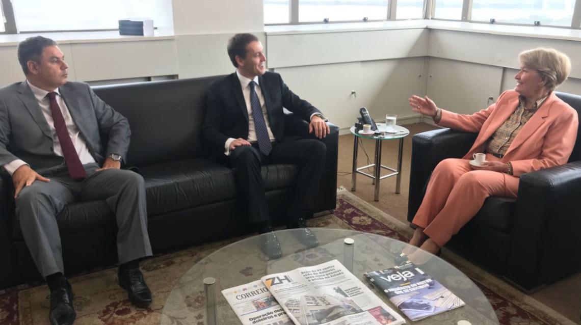 Ana Amélia destaca atuação do MP-RS em reunião com procurador-geral de Justiça