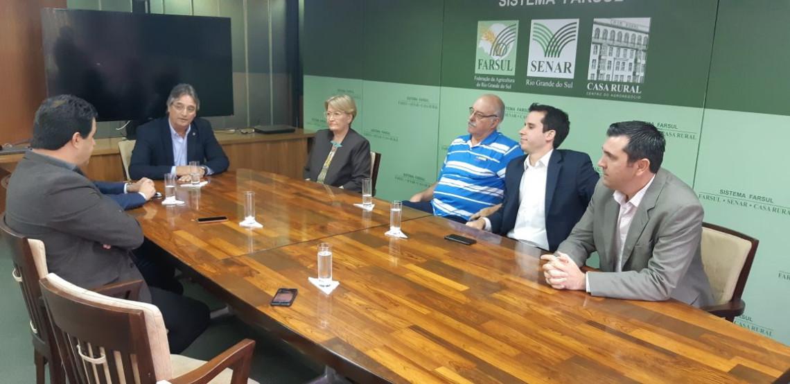Na Farsul, Ana Amélia agradece apoio da entidade a projetos e debates importantes para o setor
