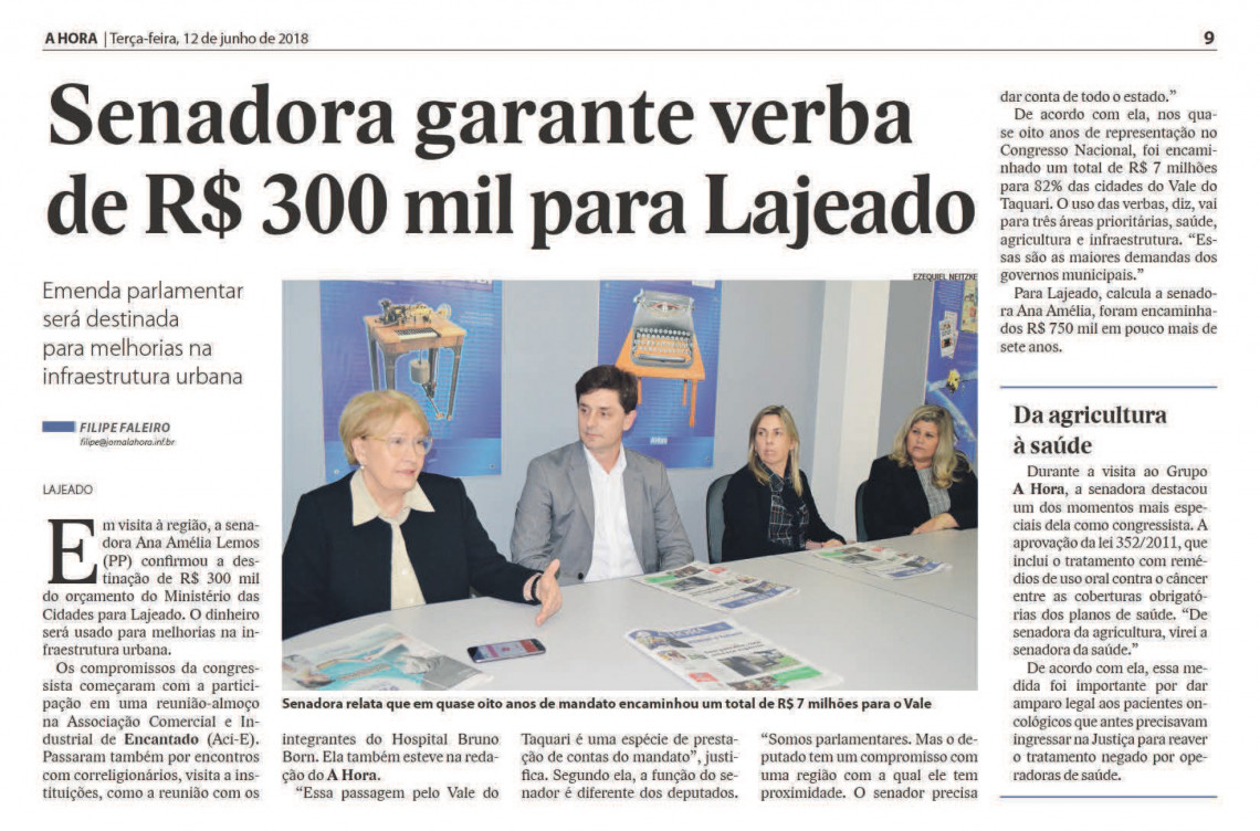 Senadora visita Prefeitura e recebe demandas do Hospital Bruno Born, em Lajeado