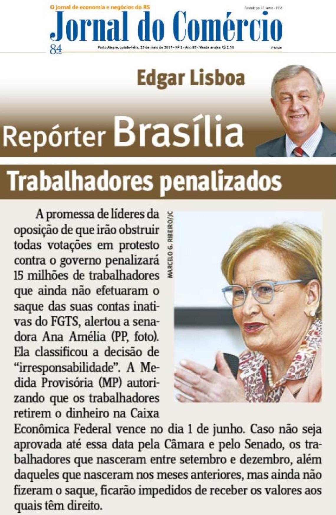 Jornal do Comércio: Edgar Lisboa - Trabalhadores penalizados