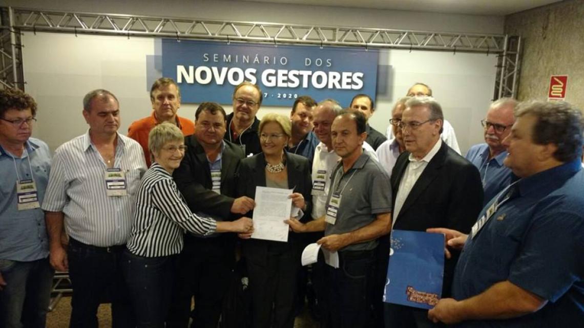 Ana Amélia garante apoio às negociações pela construção da ponte que ligará o Brasil à Argentina