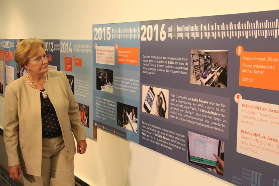 Ana Amélia prestigia comemoração de 20 anos da Rádio Senado