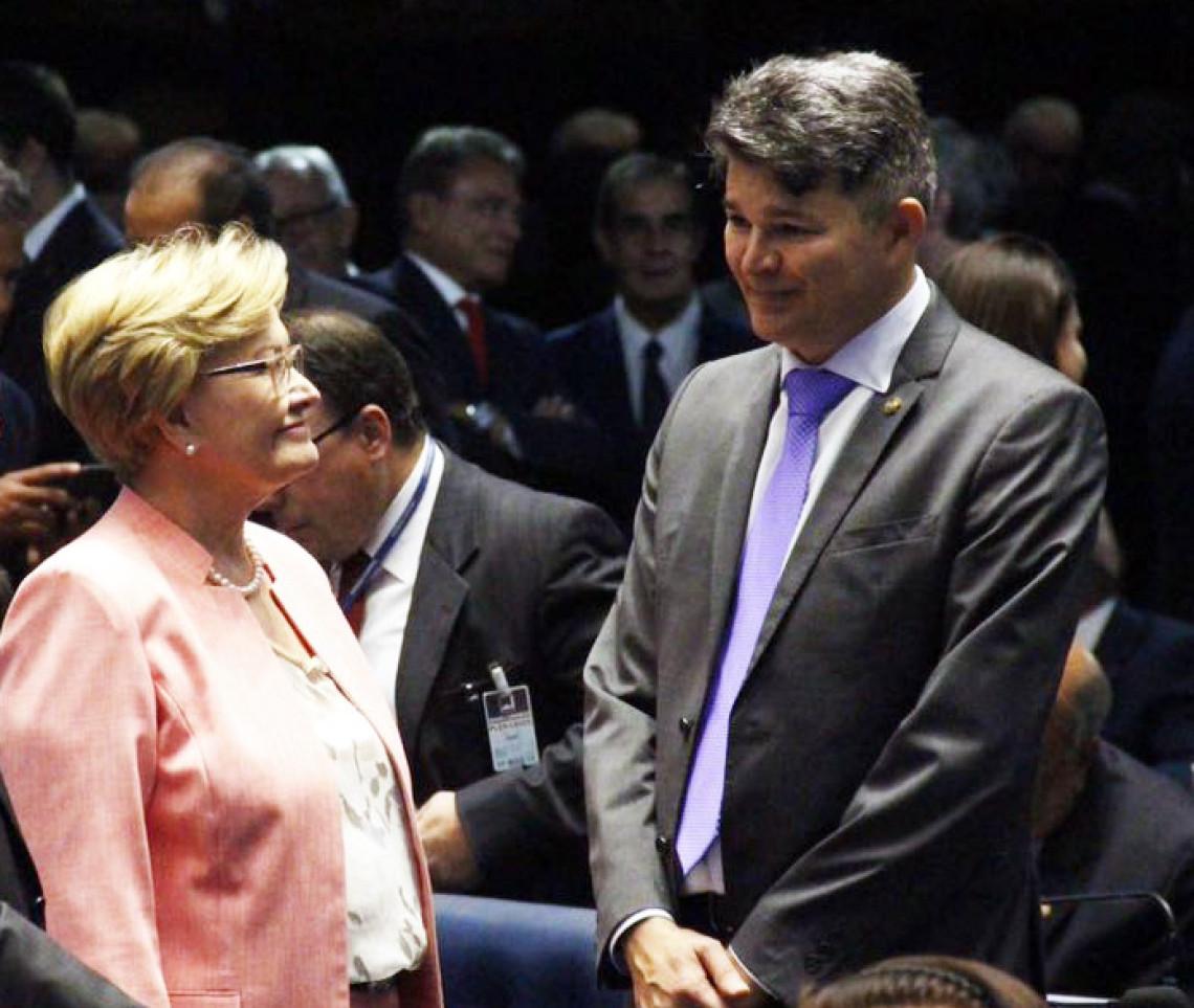 Ana Amélia votou em José Medeiros na eleição para presidência do Senado