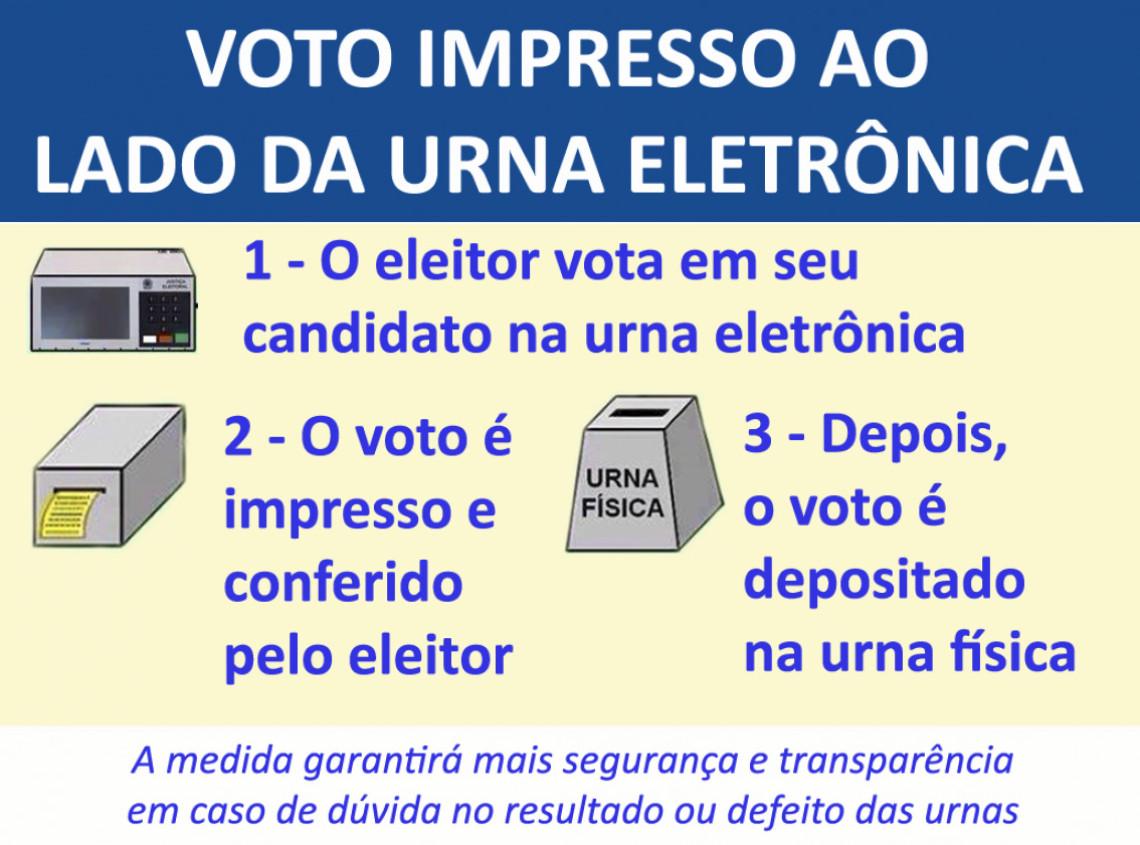 Congresso derruba veto ao voto impresso ao lado da urna eletrônica