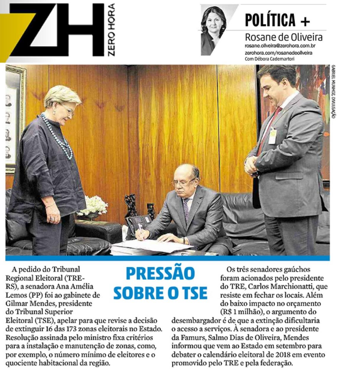 Presidente do TSE irá analisar fechamento de zonas eleitorais no RS