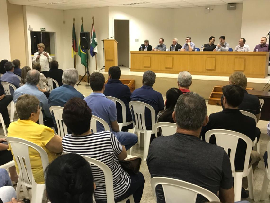 Em Ijuí, Ana Amélia relembra origem do projeto que desburocratiza acesso a pesquisas clínicas