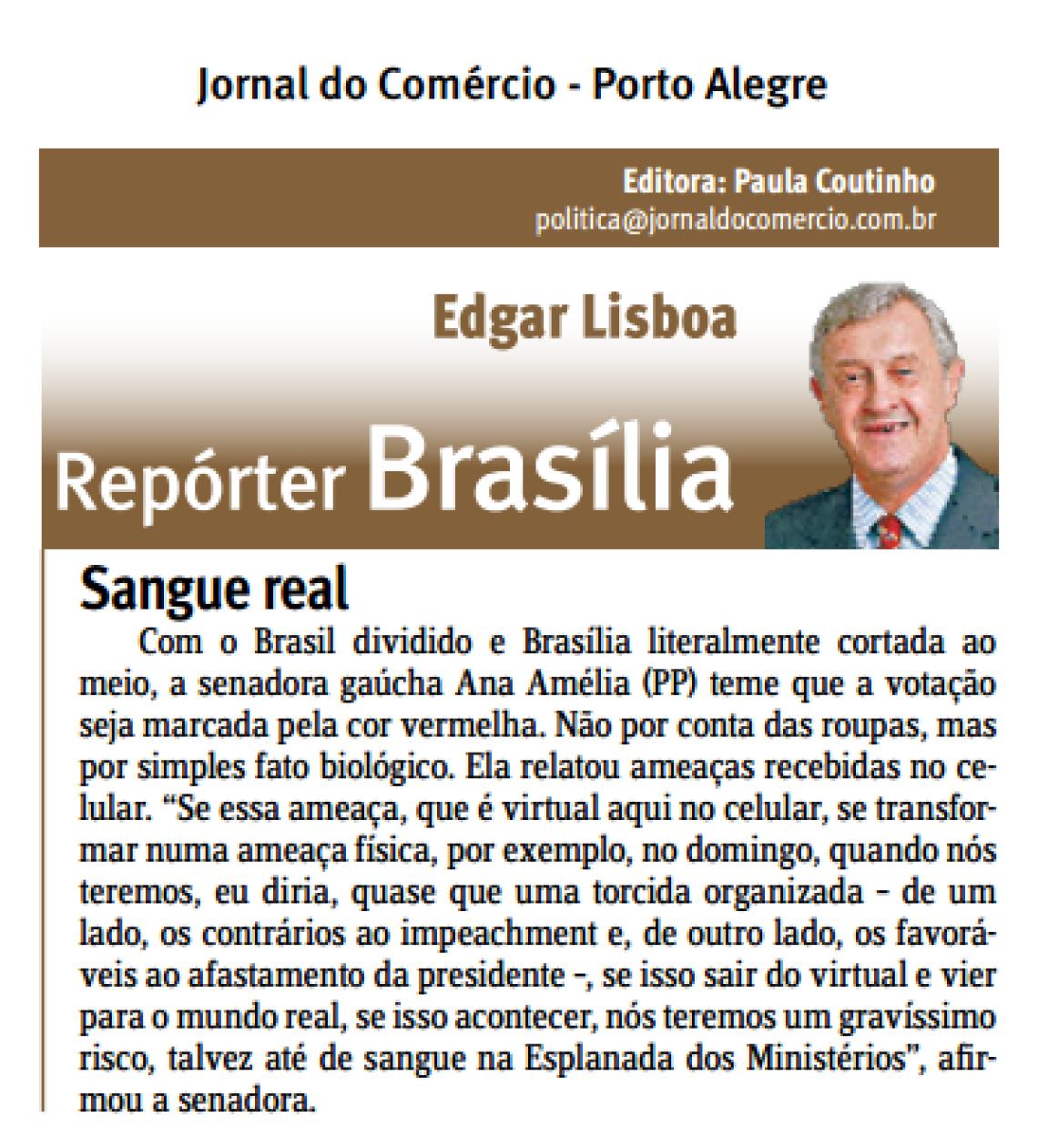 Jornal do Comércio: Edgar Lisboa - Sangue real