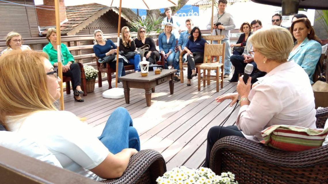 Na casa do Badesul, na Expointer, Ana Amélia defende protagonismo das mulheres