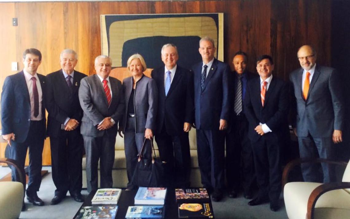 Missão parlamentar é recebida pelo embaixador do Brasil nos Estados Unidos, Luiz Alberto Figueiredo