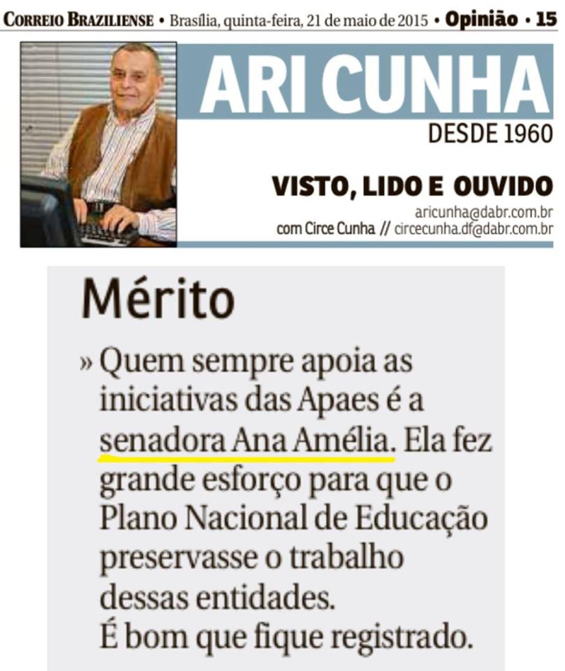 Correio Braziliense: Ari Cunha - Mérito