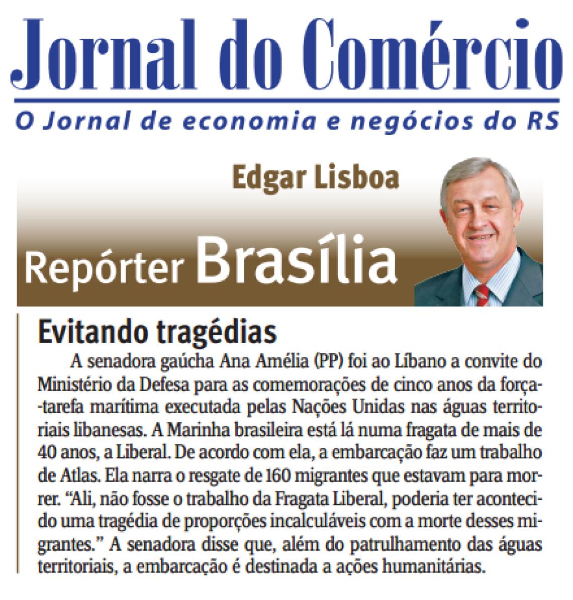 Jornal do Comércio: Edgar Lisboa - Evitando Tragédias