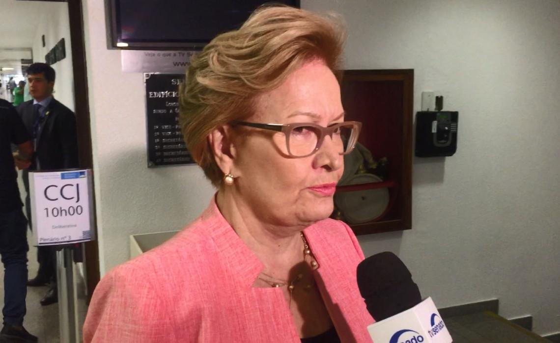 Se um ex-presidente denunciado pede a prisão de um juiz, imagina se aprovarmos esse projeto, diz Ana Amélia ao reafirmar posição contra PLS 280