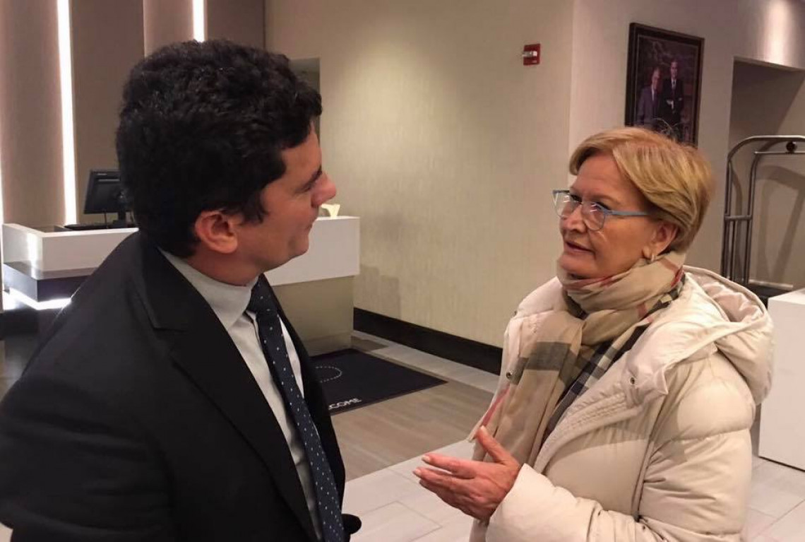 Ana Amélia diz a Moro que é contra qualquer projeto que tente frear a Lava Jato