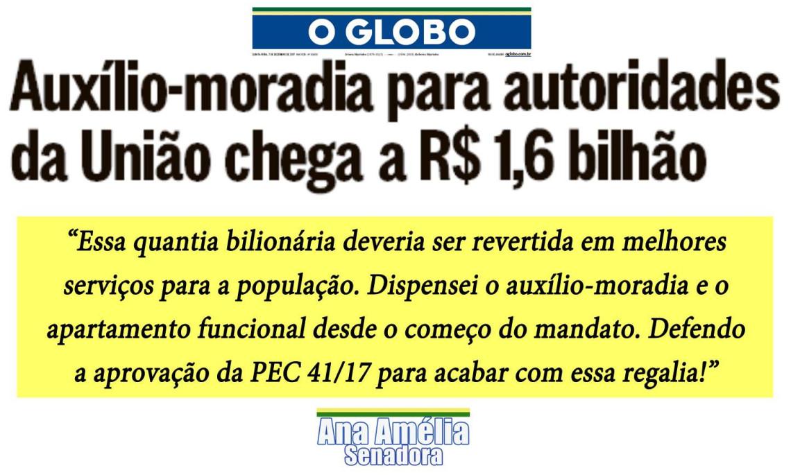 Jornal do Comércio: Ana Amélia abriu mão de apartamento funcional e dispensou auxílio-moradia