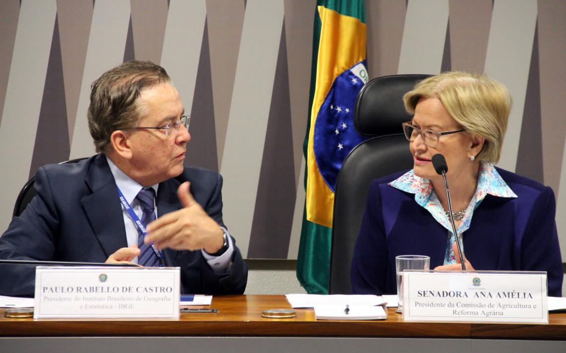 Presidente do IBGE destaca importância de audiência na CRA para garantir Censo Agropecuário em 2017