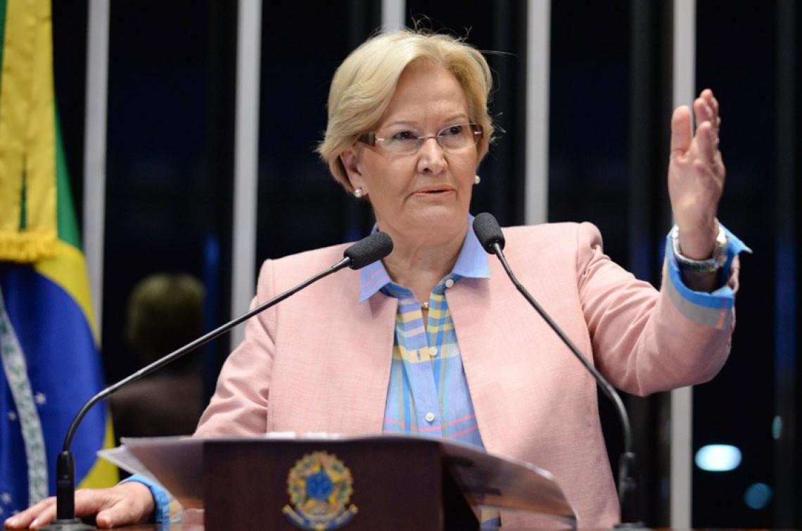 Na tribuna, Ana Amélia destaca saída do PP do governo e apoio ao impeachment