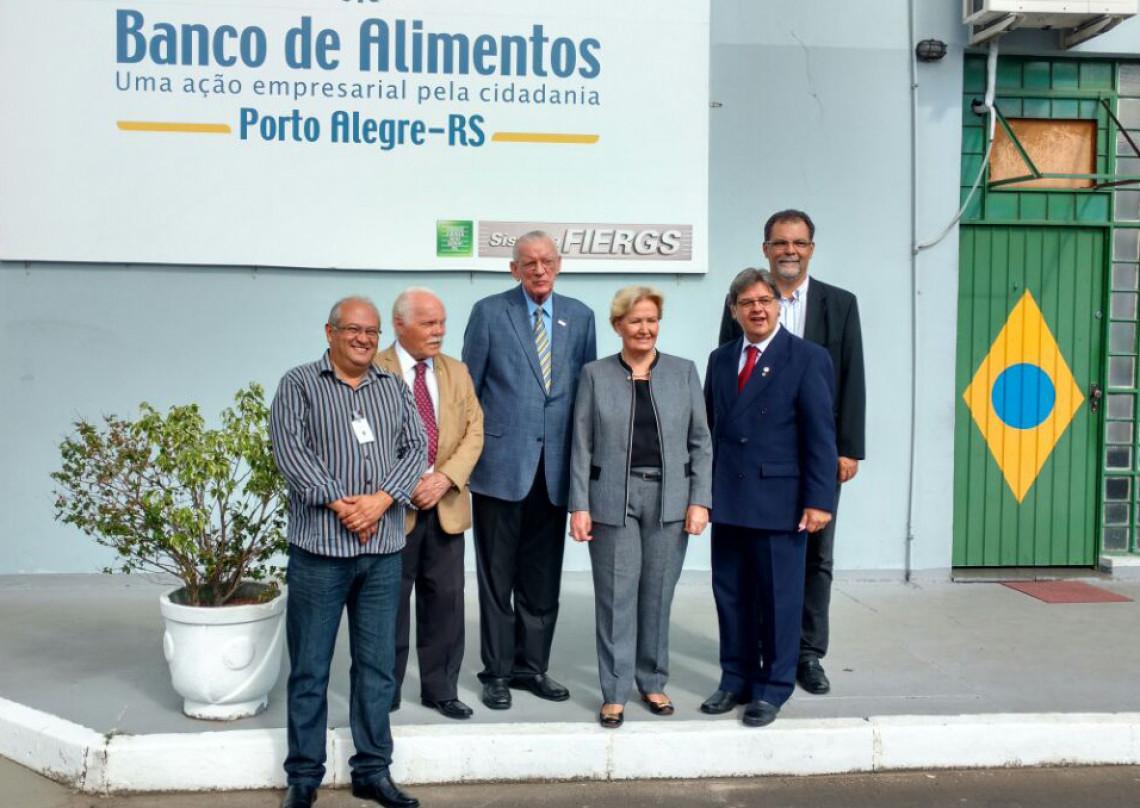 Banco de Alimentos do RS recebe a senadora Ana Amélia