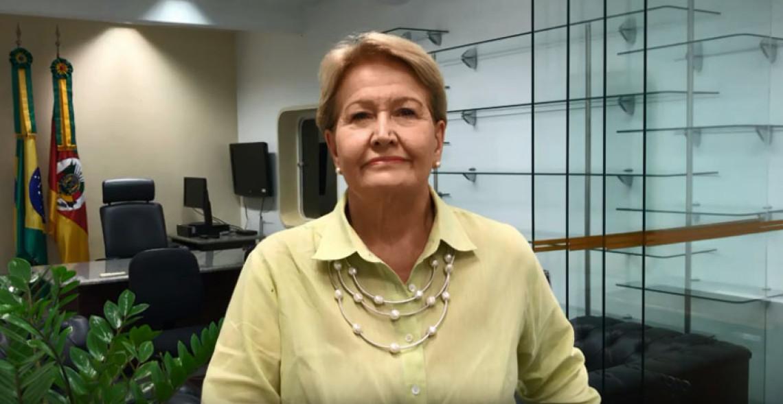 Em vídeo nas redes sociais, Ana Amélia se despede do Senado