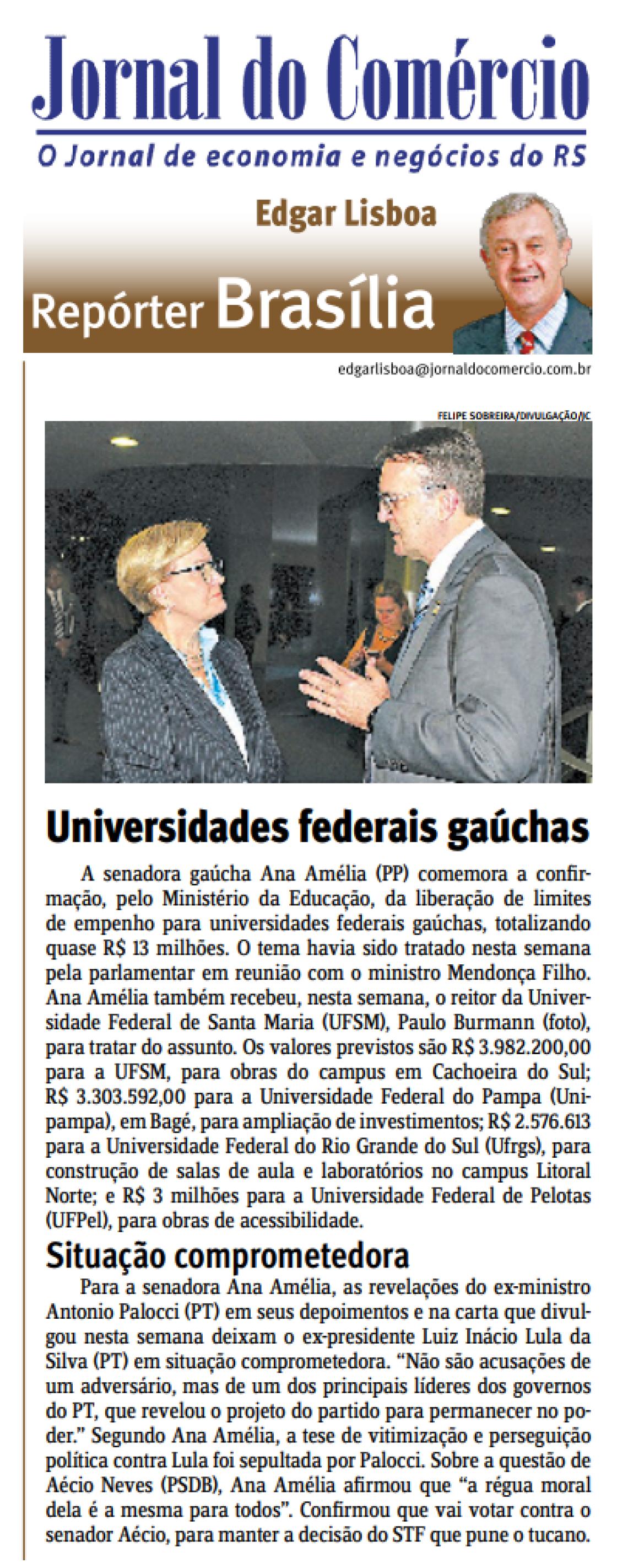 Jornal do Comércio: Edgar Lisboa - Universidades Federais gaúchas