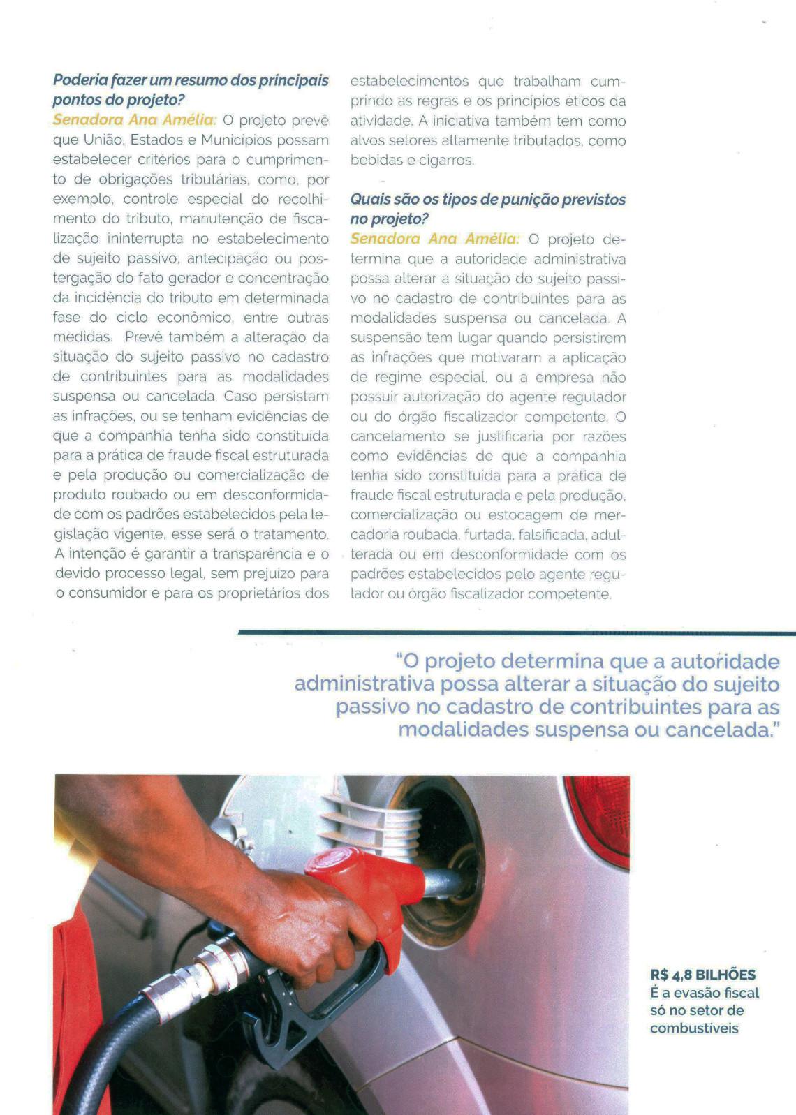 Revista ETCO: Ana Amélia fala sobre projeto para combater sonegação e concorrência desleal