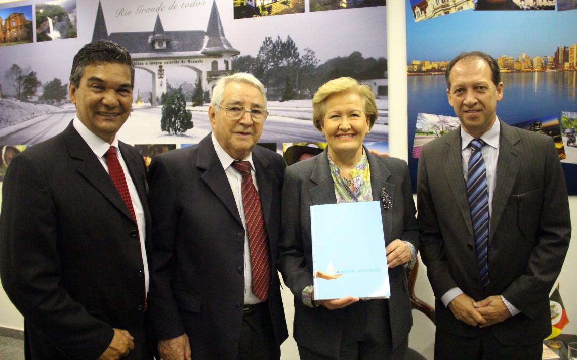 Ana Amélia garante apoio a projetos e confirma visita ao Hospital Santo Ângelo