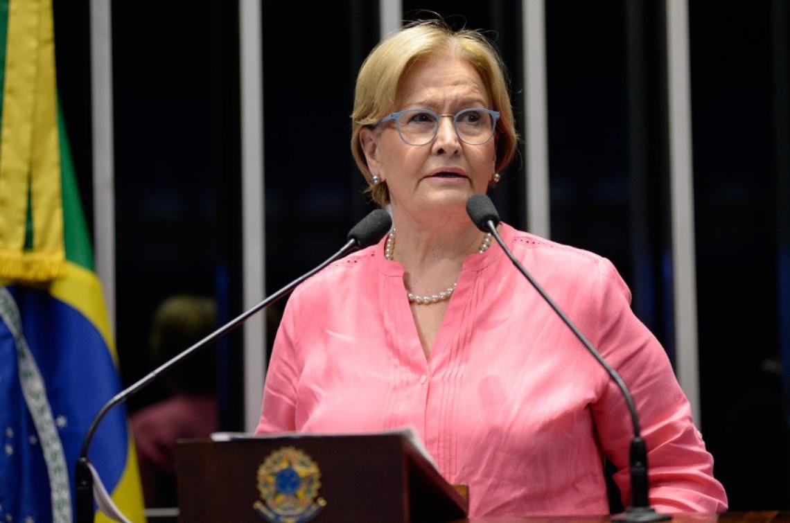 Ana Amélia repudia ataques de petistas à jornalista Miriam Leitão