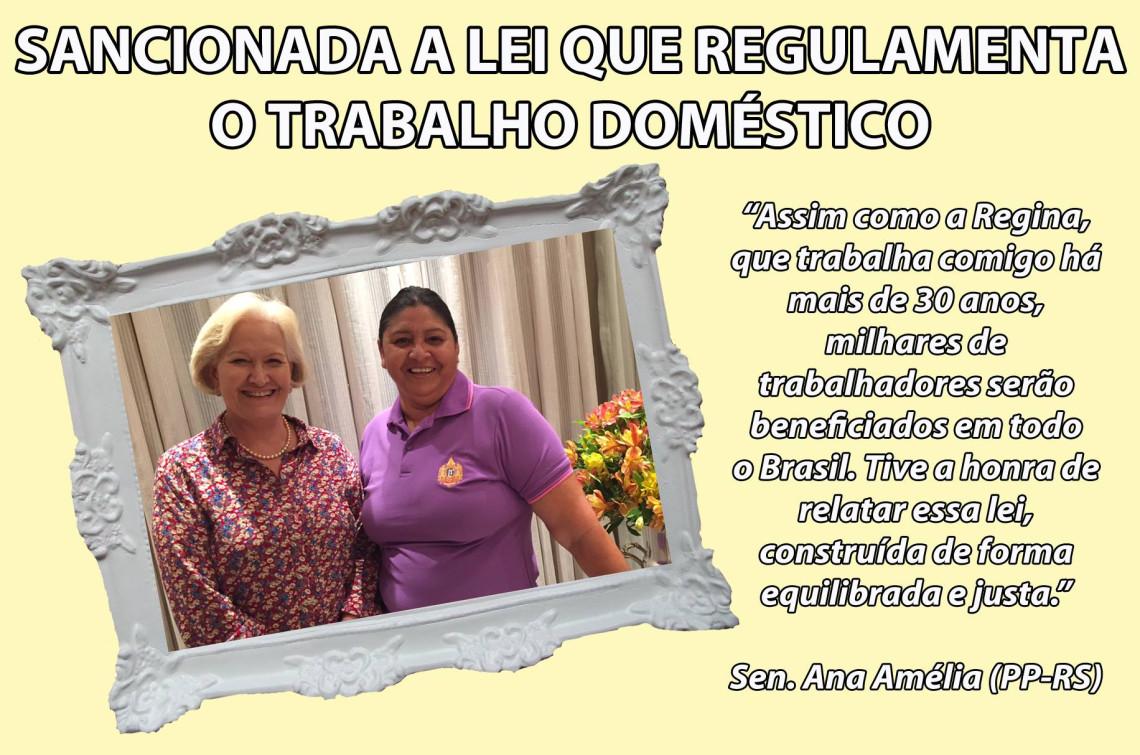 Lei que amplia os direitos dos trabalhadores domésticos é sancionada
