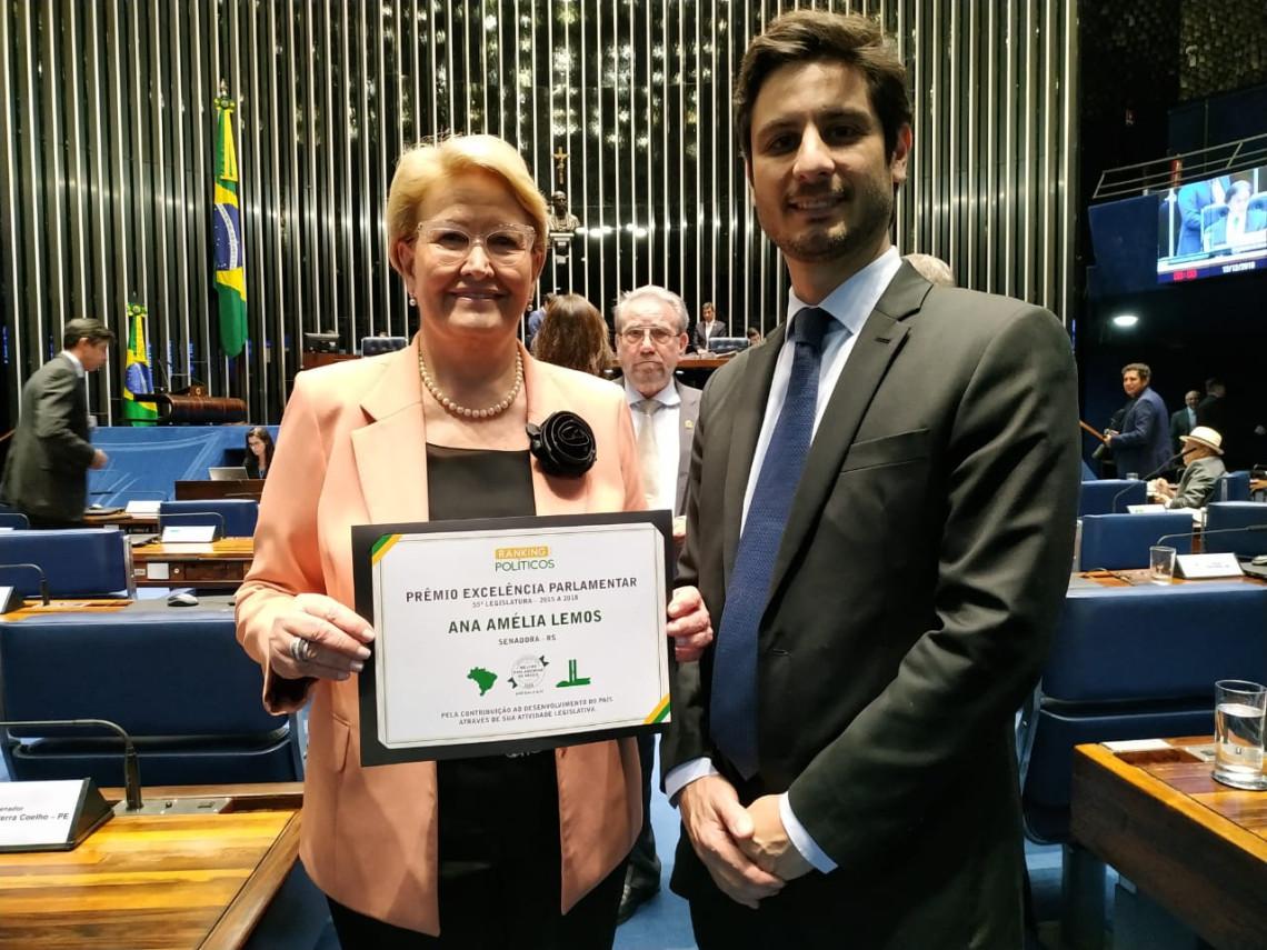 Pelo segundo ano consecutivo, Ana Amélia é avaliada como a melhor parlamentar do Congresso pelo Ranking dos Políticos