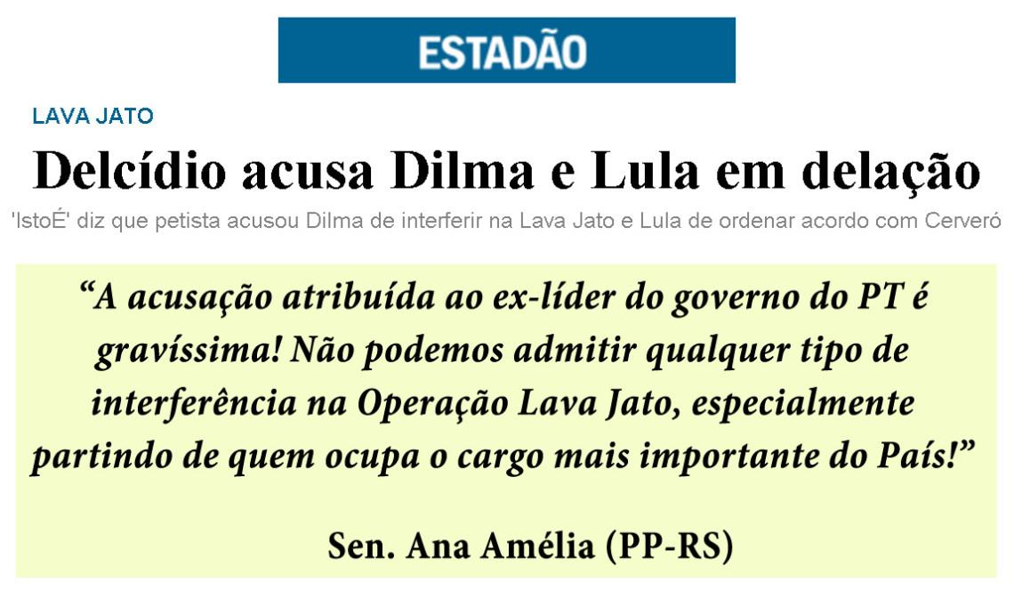 """""""Informação que indicado para o STJ poderia dar decisões favoráveis a investigados na Lava Jato é grave"""", diz Ana Amélia"""