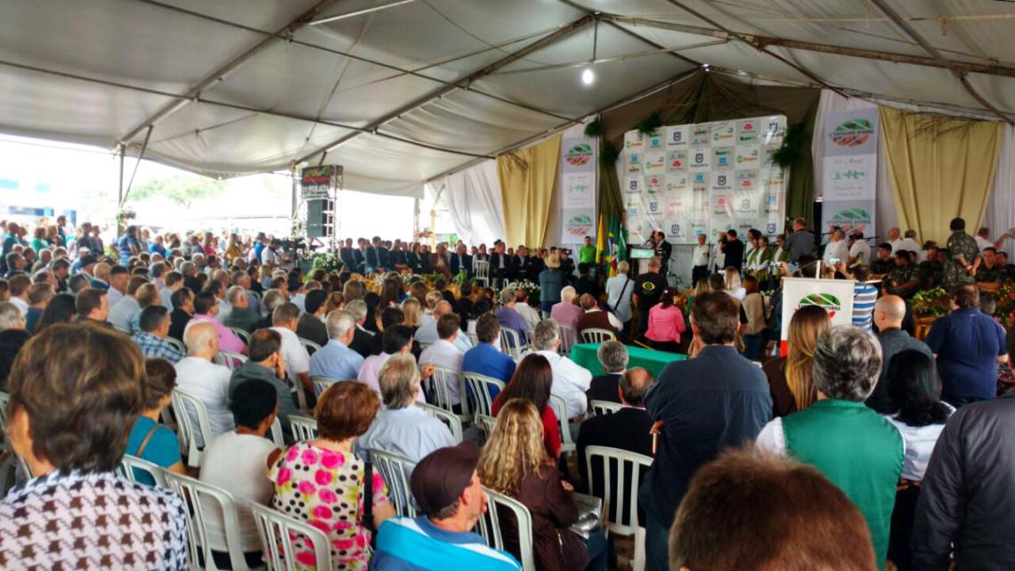 Senadora participa da abertura da Expoagro Afubra, em Rio Pardo