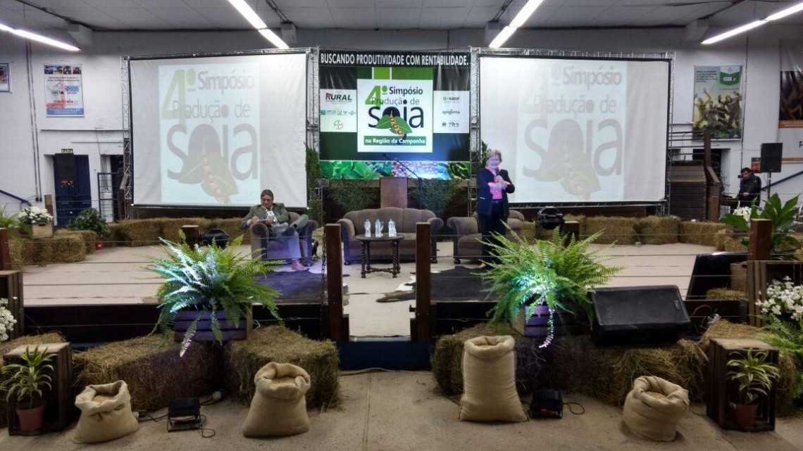 Crescimento da produção de soja é destacado em simpósio promovido pelo Sindicato Rural de Bagé