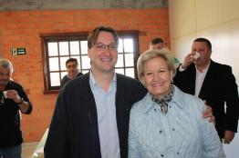Senadora Ana Amélia participa de encontro na Câmara de Vereadores de Pinto Bandeira
