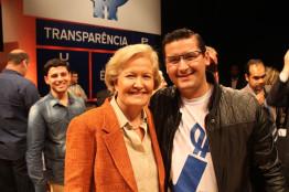 Com o Teatro Dante Barone lotado, Celso Bernardi é reeleito presidente do Partido Progressista no Rio Grande do Sul