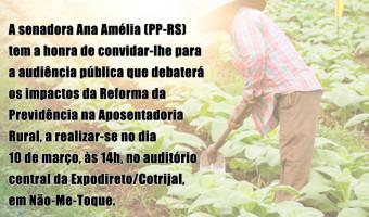 Aposentadoria Rural será tema de audiência do Senado na Expodireto/Cotrijal