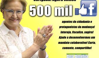 Página da senadora no Facebook ultrapassa os 500 mil seguidores
