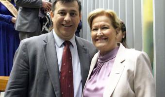Diretor-geral da PF é cumprimentado pela senadora por ações republicanas na Operação Lava Jato