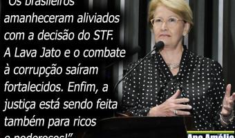 Sociedade respira aliviada com resultado de julgamento do habeas corpus de Lula, diz Ana Amélia
