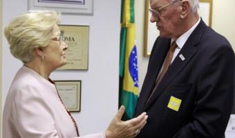 Ana Amélia recebe o presidente da Fiergs