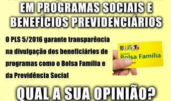 DataSenado realiza enquete popular sobre projeto que visa evitar fraudes em programas sociais e benefícios previdenciários