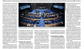Jornal do Senado: Renegociação de crédito rural deve ficar mais fácil