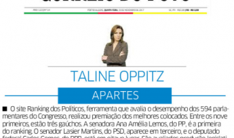 Correio do Povo: Taline Oppitz - Ranking dos Políticos