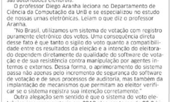 Correio do Povo: Rogério Mendelski - Urna eletrônica é segura?